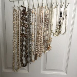 Lot if 12 seashell necklaces